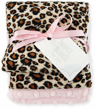 Swankie Blankie Cheetah Burp Cloth Set