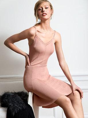 Victoria's Secret Lace-trim Fit-and-Flare Dress