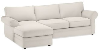 Pottery Barn Pearce Upholstered Sofa with Chaise Sectional