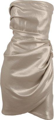 J. Mendel Strapless Lam Dress