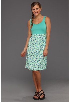 Columbia Armadale Dress (Glaze Green Armdale Fans Print) - Apparel