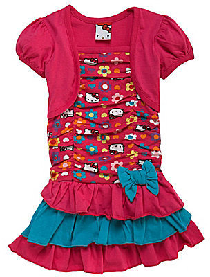 Hello Kitty 2T-6X 2-Fer Dress