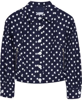 See by Chloe Polka-dot cotton-blend jacket