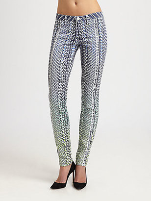 Mary Katrantzou for Current/Elliott The Ankle Skinny Jeans