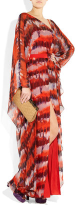 Amanda Wakeley Printed silk-chiffon maxi dress