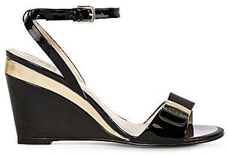 Monet Becca Patent Leather Wedge Sandals