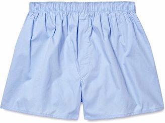 Sunspel Cotton Boxer Shorts $60 thestylecure.com