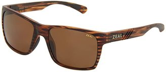 Zeal Optics Brewer (Matte Wood Grain w / Copper Polarized Lens) Sport Sunglasses