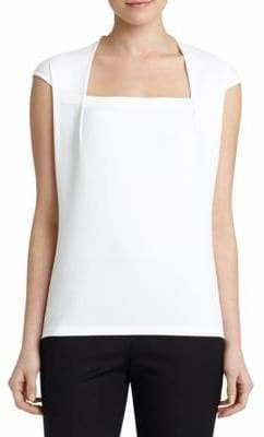 Lafayette 148 New York Giada Stretch-Cotton Top