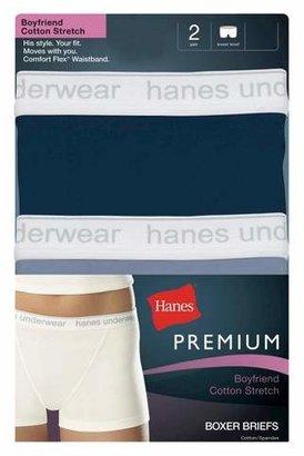 Hanes Premium Hanes® Premium Women's Boyfriend Cotton Boxer Briefs CM49AS 2-Pack