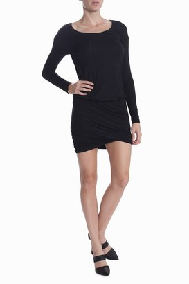 BELLA LUXX Gathered Dress - Black