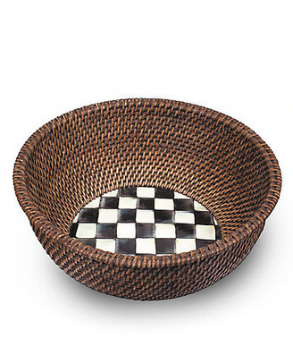 Mackenzie Childs MacKenzie-Childs Courtly Check Rattan & Enamel Bowl