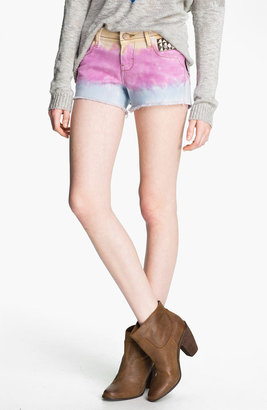 STS Blue Studded Tie Dye Cutoff Shorts (Juniors)