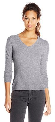 Sofie Women's 100% Cashmere Long Sleeve V-Neck Pullover Sweater
