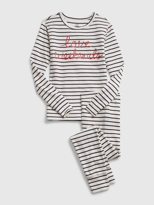 Gap Kids Love Weekends Stripe PJ Set