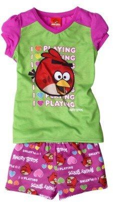 Favorite Characters Angry Birds Girls 2-Piece Pajama Set - Pink/Green