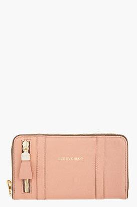 See by Chloe Dusty Rose Leather Zip Wallet
