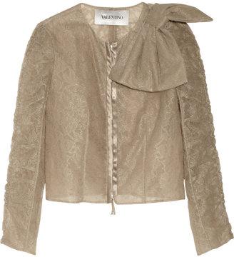 Valentino Lace and organza jacket