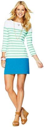 C. Wonder Colorblock Stripes Boatneck Tee Dress