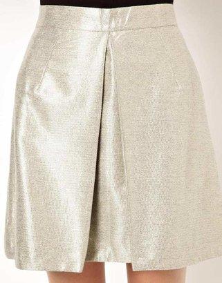 Markus Lupfer Big Box Pleat Skirt