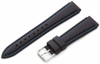 Hadley Roma Hadley-Roma Men's MS3345RF 180 18mm Genuine Silicone Diver Sport Watch Strap