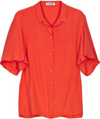 Jil Sander sold out Silk-voile shirt