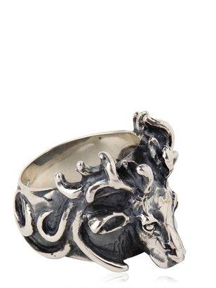 Manuel Bozzi Deer Silver Ring