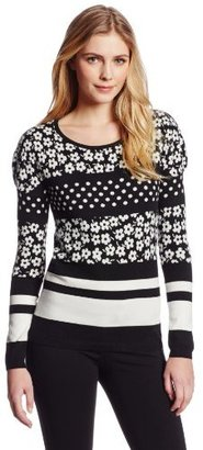 Juicy Couture Women's Griffith Stripe Pullover Sweater