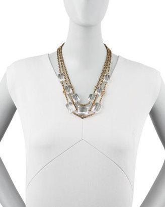 Stephen Dweck Three-Strand Rock Crystal Necklace