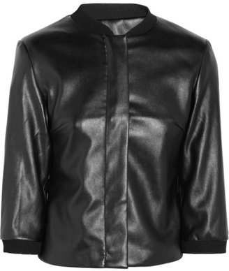 Karl Lagerfeld Joss faux leather bomber jacket