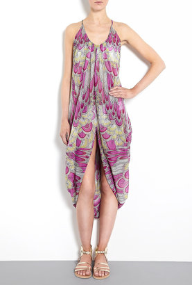Mara Hoffman Feather Chiffon Drape Sanela Dress