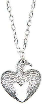 MANGO Heart-shaped bird necklace