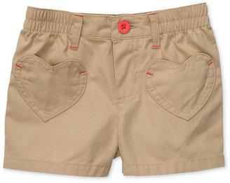 Carter's Kids Shorts, Little Girls Woven Heart Pocket Shorts