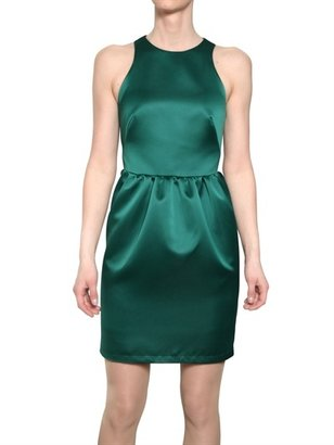 MSGM Techno Duchesse Satin Dress