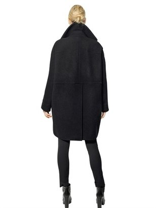 Jil Sander Melton Wool Cloth Cocoon Coat