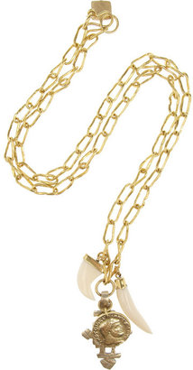 Ashley Pittman Pagaro gold-tone and horn necklace