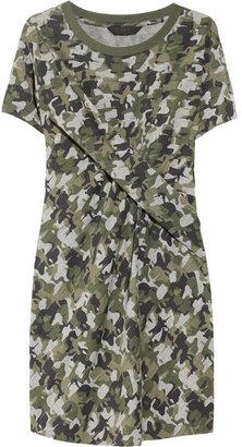 Karl Lagerfeld Davin camo-print twisted jersey dress