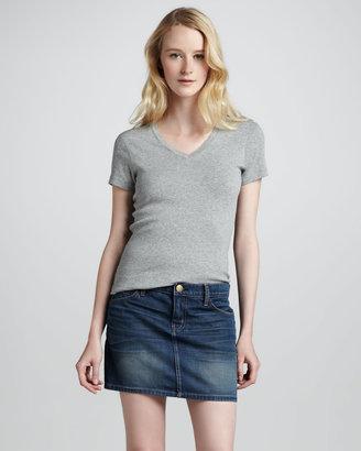 Current/Elliott The Five-Pocket Sundown Denim Skirt