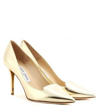 Jimmy Choo Avril metallic leather pumps