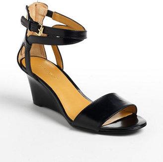 Nine West Reelymind Leather Wedge Sandals