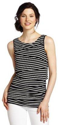 Vince Camuto Women's Sleeveless Zig Zag Stripe Top