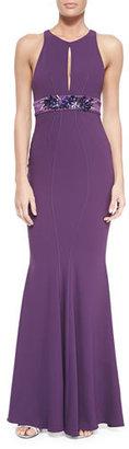 ZAC Zac Posen Sleeveless Mermaid Gown W/ Embellished Waist $1,490 thestylecure.com