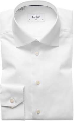Eton White Signature Twill Shirt - Slim Fit