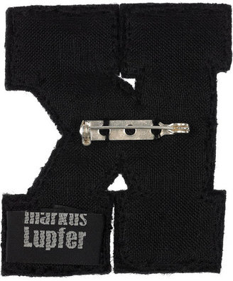 Markus Lupfer Sequined initial brooch