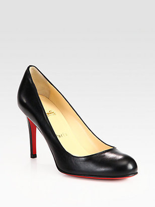 Christian Louboutin Simple 85 Leather Pumps