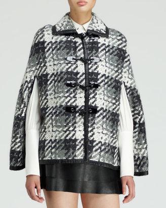 Rachel Zoe Venice Leather Miniskirt, Black