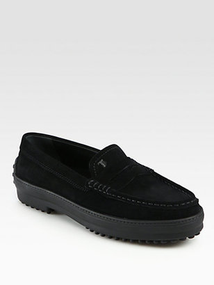 Tod's Suede Moccasin Drivers