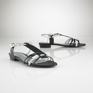 Ralph Lauren Metallic Gladiator Sandal