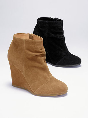 Victoria's Secret Collection Ruched Wedge Bootie