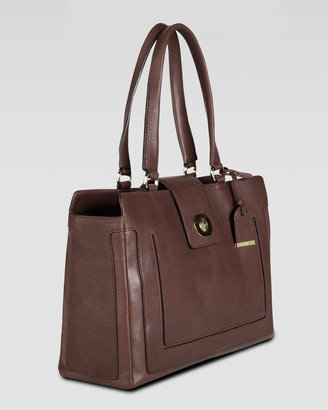 Cole Haan Lafayette Leather Tote Bag, Sequoia Brown